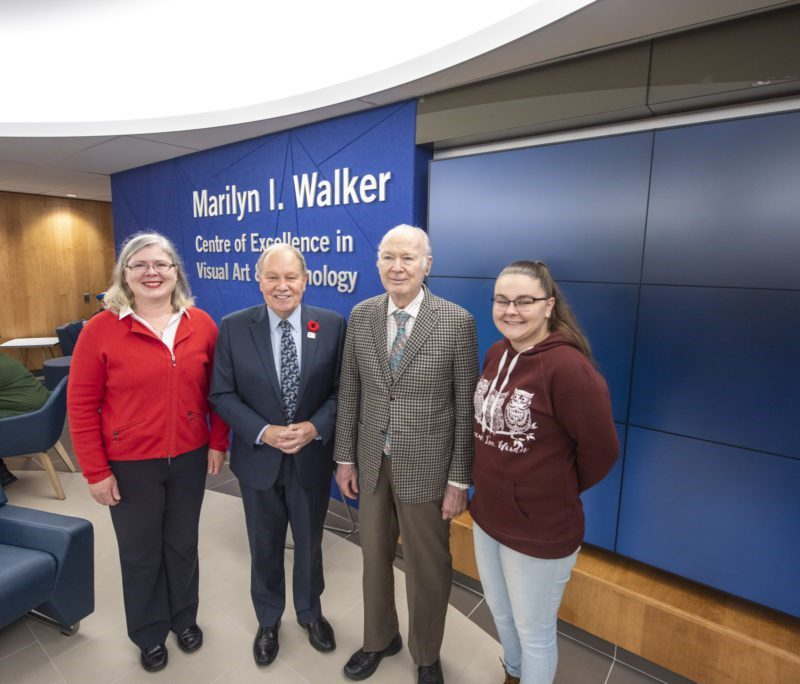 Niagara College Opens Marilyn I Walker Centre of Excellence in Visual Arts and Technology. 2019-10-29