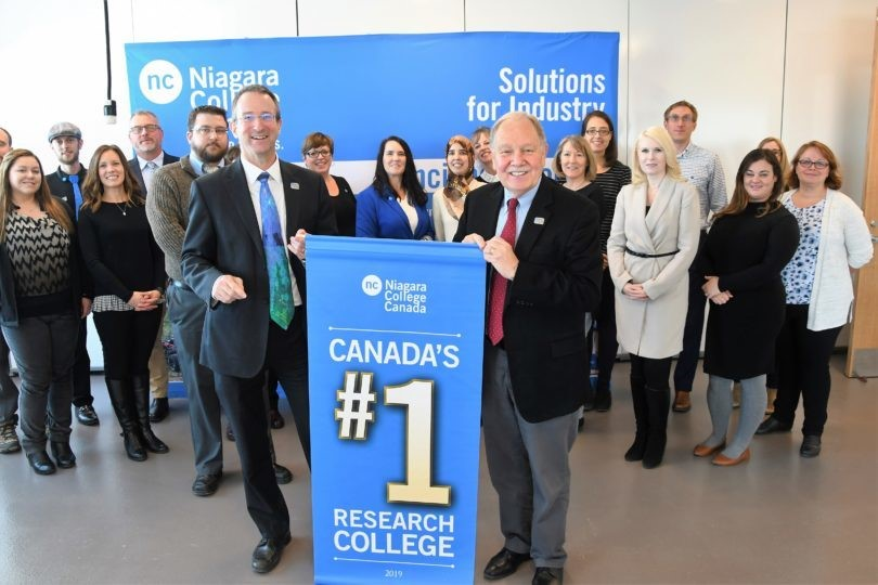 Niagara College ranked as No. 1 research college in Canada