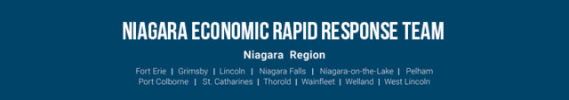 Niagara Economic Rapid Response Team with partner logos